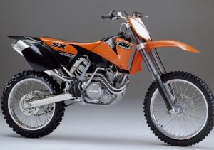 Pot echappement KTM SX 400 Racing (2002)
