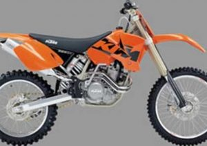 Pot echappement KTM SX 525 Racing (2003 - 04)